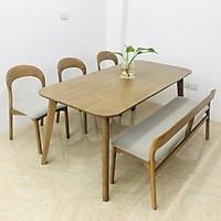 BỘ DANIS 1.75m 3 ghế và 1 bench DANIN1.75.3B
