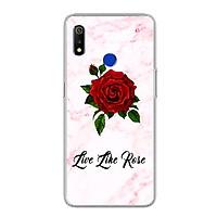 Ốp lưng dẻo cho Realme 3 - 0060 FLOWER08 - Hàng Chính Hãng