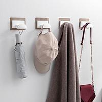 Móc treo dán tường, móc treo quần áo phòng ngủ, móc treo đồ nhà tắm phong cách hiện đại, móc treo đa năng