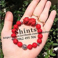 Vòng tay san hô đỏ thiết kế