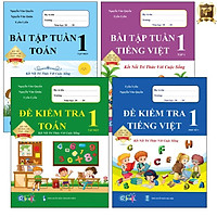 Sách - Combo Bài Tập Tuần và Đề Kiểm Tra 1 - Toán và Tiếng Việt học kì 1 - Kết nối tri thức với cuộc sống (4 cuốn)