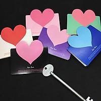 Thiệp trái tim nhiều màu nhỏ xinh - Thiệp 3D mini cute - Thiệp gập hình trái tim sắc màu đẹp độc giá rẻ