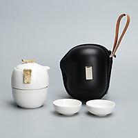 Bộ ấm trà du lịch gốm sứ kiểu Nhật 4 món xách tay du lịch