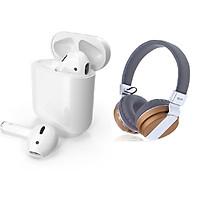 Bộ 2 Tai Nghe Bluetooth cảm ứng Và Bluetooth Chụp Tai Đẳng Cấp Cao