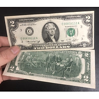 Tiền Mỹ 2 đô la may mắn nhất năm 1976, tặng kèm phơi nilong bảo quản