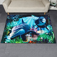 120x160cm sea world Fashion Non-slip Shaggy Fluffy Area Rug Floor Mat Living Room Carpet Home Decoration