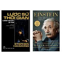 Combo 2 Cuốn Sách Hay: Einstein - Cuộc Đời Và Vũ Trụ + Lược Sử Thời Gian / Sách Kiến Thức Tổng Hợp -Tặng Kèm Bookmark Happy Life