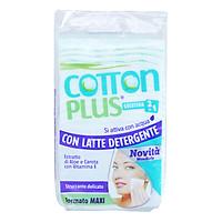 Bông Tẩy Trang Cotton Plus 2 Trong 1 Chiết Xuất Lô Hội - Cà Rốt - Vitamin E (50 Miếng)