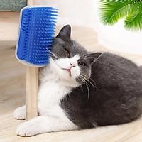 Bàn chải gắn tường tự chải lông cho mèo - Giúp mèo thư giãn