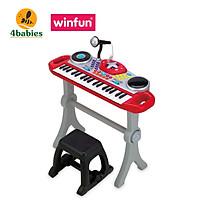 Đồ chơi âm nhạc cho bé Đàn organ điện tử cho bé kèm Mic  thu âm và bàn DJ  Winfun 2068 phát triển năng khiếu âm nhạc - tặng đồ chơi tắm