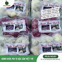 [Chỉ giao HN] - Bánh Khúc Việt Trì - Túi 10 Cái - Mix 5 Trắng 5 Cẩm - Đông Lạnh