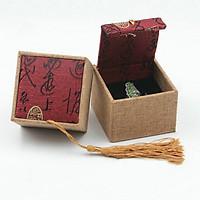 Hộp gấm đựng nhẫn phong cách Trung Hoa, hộp đựng quà đựng nhẫn cỡ nhỏ phong cách Trung Hoa đẹp và lạ mắt