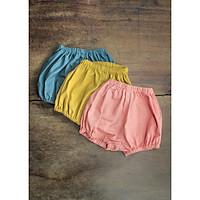 Combo Quần Sơ Sinh Bé Gái Vải Linen Mộc Nhuộm Màu Tự Nhiên Thảo Dược CBQ0501
