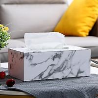 Hộp khăn giấy giả da họa tiết đá Marble