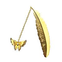 Bookmark bướm bướm dạ quang, lá vàng xinh xắn - Tặng hộp giấy