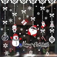 Tranh Decal Dán Kính Trang Trí Cây Thông Giáng Sinh Merry Christmas 02