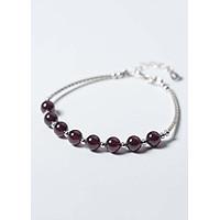 Vòng tay bạc đá Garnet mệnh hỏa, thổ - Ngọc Quý Gemstones