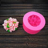 Khuôn silicon hoa hồng chùm