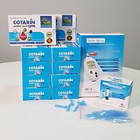 Compo 10 hộp Thực phẩm bảo vệ sức khỏe: COTARIN – HỖ TRỢ BỆNH TIỂU ĐƯỜNG TYPE 2 – Tặng 1 máy đo đường huyết Safe-Accu chính hãng của Đức