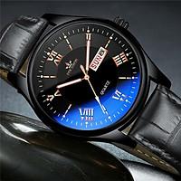 Đồng Hồ Nam FOURRON F26  Mặt Số La Mã có lịch ngày và lịch thứ kim dạ quang phát sáng đồng hồ thời trang chống thấm nước dây da PU cao cấp