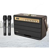 Loa Karaoke Bluetooth công suất lớn 120W 2 mic không dây Wking - Hàng chính hãng