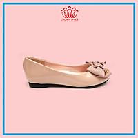 Giày Búp Bê Bé Gái Đi Học Đi Chơi Crown Space UK Ballerina Trẻ Em Cao Cấp CRUK3115 Nhẹ Êm Thoáng Size 30-36/6-14 Tuổi