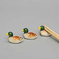 Combo 6 tượng gác đũa vịt gốm sứ phụ kiện bàn ăn
