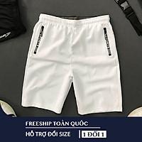 Quần thể thao  Quần nam 2 túi kéo khoá vải thun lạnh dày đẹp-Quần short nam-QTTD001