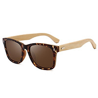 Men Retro All-match Bamboo Sunglasses for Outdoor Sports
