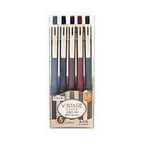 Colored Gel Pens Set Retractable 0.5mm Pen Lead Gel Ink Pens Multi-Color Pen for Children Students Adults Writing