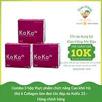 Combo 3 Thực phẩm chức năng  KoKo 25- Cao Khô Hà Thủ Ô Collagen Làm Đen Tóc Đẹp Da