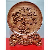 ĐĨA GỖ ĐỂ BÀN - CHỮ TÂM-ĐỨC -PHÚC-NHẪN -THUẬN BUỒM XUÔI GIÓ -MÃ ĐÁO THÀNH CÔNG -ANH HÙNG TƯƠNG NGỘ