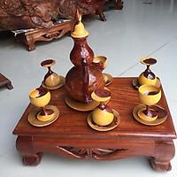 Bộ bình rượu gỗ cẩm lai và khay gỗ hương