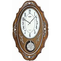 Đồng hồ treo tường Rhythm COMFORT SWING PENDULUM CMJ462CR06 (Kích thước 36.0 x 58.0 x 11.0cm) Vỏ màu nâu