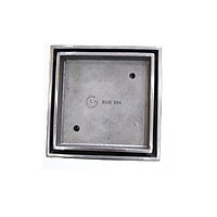 Phễu thoát sàn đặt gạch đúc GL SUS304 150x150mm Ø 110, chống hôi