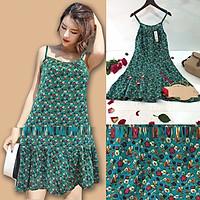 Váy 2 Dây Hoa Nhí Vải Lanh – Váy Lanh 2 Dây Dáng Xòe ĐUÔI CÁ