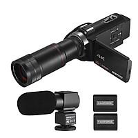 Máy Quay Video Wifi Kỹ Thuật Số IR Andoer Kèm 2 Pin (4K HD DV 16X Zoom) (3 inch)