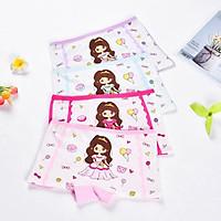 Quần chip đùi cotton cho bé gái 2-12 tuổi hình công chúa lung linh – C007