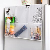 Tấm phủ tủ lạnh chống bụi chống thấm nhiều hình dễ thương