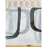 Màn rèm che PU 180x180 cm kèm móc treo ( hoa văn ô vuông)