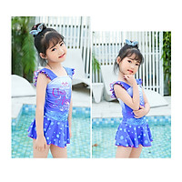 Đồ bơi liền váy cho bé gái in hình công chúa dễ thương