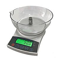 Cân điện tử thực phẩm, cân nhà bếp có tô nhựa mức cân 600g - 5kg