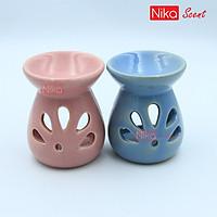 Nikascent Đồ đốt tinh dầu gốm sứ (cơ bản) khử mùi, thơm phòng, thư giãn + Tặng 1 lọ tinh dầu (5ml)  và 1 nến đốt