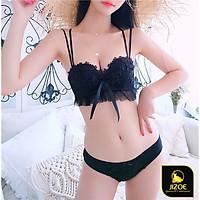 Bộ đồ lót nữ su đúc không gọng nâng ngực tạo khe Ren hoa Baby Sexy gợi cảm cao cấp xuất Nhật siêu đẹp JIZOE BAL43