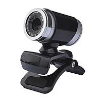 USB 2.0 0.3 Million Pixels HD Camera Web Cam with Mic Clip-on 360 Degree for Skype Laptop Desktop Computer PC