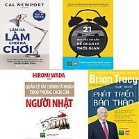 Combo 4 Cuốn Sách:  Làm Ra Làm Chơi Ra Chơi + Quản Lý Tài Chính Cá Nhân Theo Phong Cách Của Người Nhật + 21 Quy Tắc Cơ Bản Để Quản Lý Thời Gian + Nghệ Thuật Phát Triển Bản Thân
