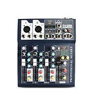 Bộ Mixer Âm Thanh F4 - USB Bluetooth Cao Cấp - Mixer Hát Live - Thu Âm - Karaoke 4178