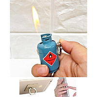 Bật Lửa Hình Bình Gas Độc Lạ + Tặng giá đỡ điện thoại ring (màu ngẫu nhiên)