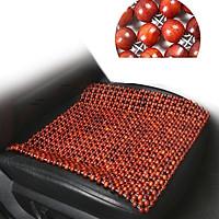 Tấm, miếng lót massage ghế xe ô tô,xe hơi, ghế văn phòng hạt gỗ tròn hương cao cấp 45x45 tạo cảm giác thoải mái khi ngồi chống mệt mỏi-DL01