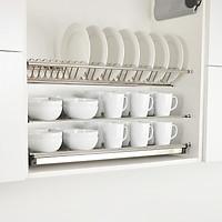 Giá để bát đĩa 3 tầng inox trong tủ bếp